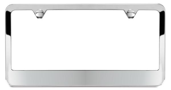 1 Piece 2 Hole Slim Front or Rear Black Aluminum License Plate Frames with Stainless Steel Screws and Black Screw Caps Mega Racer Metal Black License Plate Frame